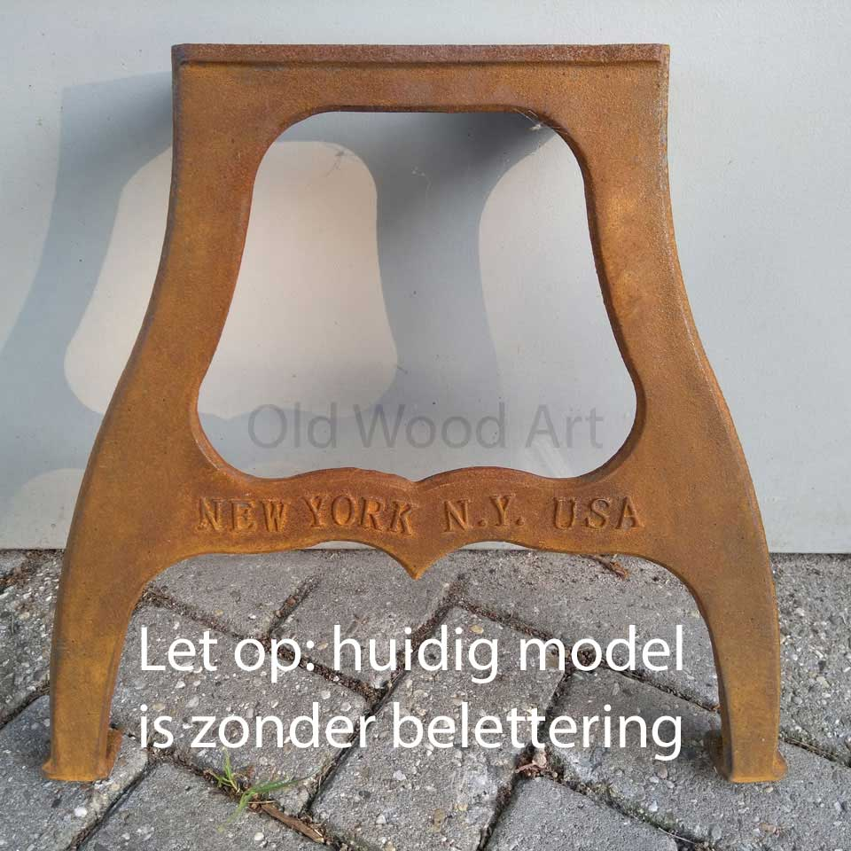 industriele tafelpoot new york roestlook zonder letters