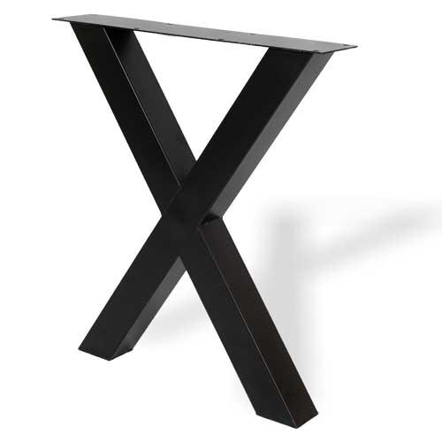 Industriele stalen X-poten zwart